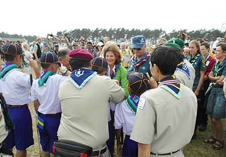 The blind scouts from Thailand once again had the pleasure of meeting Their Majesties the King and Queen of Sweden.