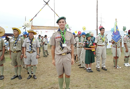 Some of the Thai scouts and myself.