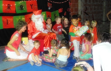 Santa's appearance is the highlight of the evening.