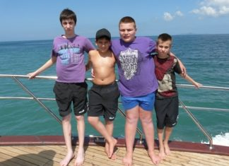 "Not only ""Brave Children"" but also braving the sea on board the Thai Garden ship."