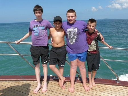 """Not only """"Brave Children"""" but also braving the sea on board the Thai Garden ship."""