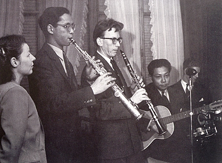 """H.M. King Bhumibol Adulyadej and six friends formed """"probably the most intricately gadgeted orchestra in Europe,"""" regularly meeting at his Lausanne villa to play until the dawn hours. The neighnors never complained."""