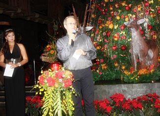 Andre Brulhart, general manager of Centara Grand Mirage Beach Resort Pattaya, addresses the gathering.