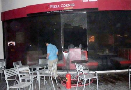 Pizza Corner, Cream & Fudge and Coffee World were gutted by fire Dec. 12.