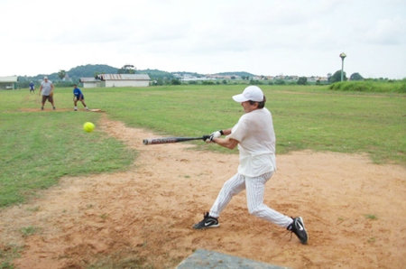 Softball action from the Pattaya Sports Club 'big hitters'.