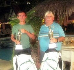 2011 Gross and Net Champions: Shane Ruddle (left) and Rodney Hayes.