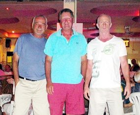 Left to right: Paul Chabot, Neville Scurrell (new club champion) and Marty Rock.