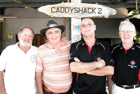 Rich Murphy and Larry Emerson (left) with Matt and Vance Millar.