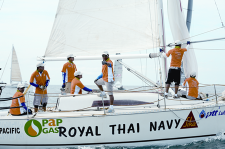 'Royal Thai Navy 1' were popular winners in the IRC 2 Class.