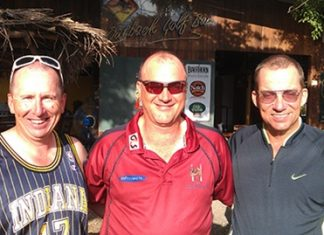 Tuesday podium placers (from the left): Mark Bell Neil Lavery and Dennis Persson.