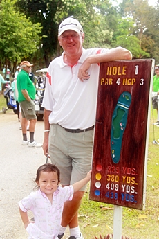 The scribe Bob Newell with Ally on the 1st at Soi Dao.