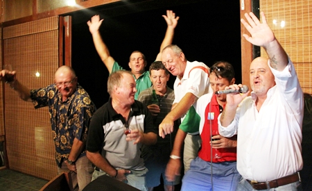 The Karaoke gang in full voice.