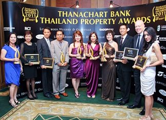 CB Richard Ellis (Thailand) won five awards at the Thanachart Bank Thailand Property Awards 2011 gala dinner ceremony, held at the Grand Hyatt Erawan Hotel in Bangkok last month.