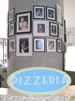 Star studded pizzeria.