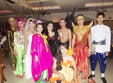 The cast and crew take a curtain call at the Mata Hari restaurant.