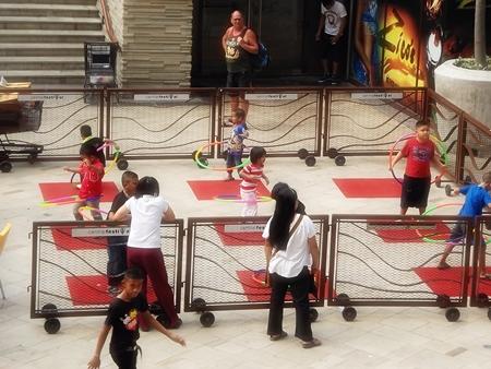 Hoola Hoops are a big hit at Central Festival Pattaya Beach.