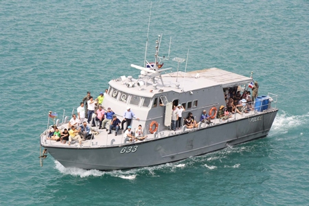 A select group of families are treated to a mini cruise along the Sattahip coast.