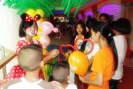 Face painting, clowns and balloons - what more could you ask for on Children's Day?
