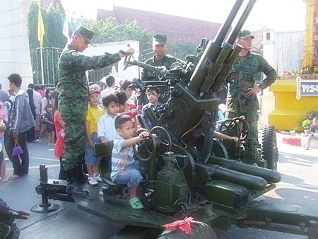 Ready, aim, but don't fire! at Pattaya City Hall.