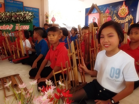Students at Pattaya School #9 love performing with their musical instruments on Children's Day.