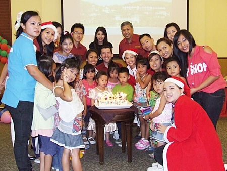 Children with birthdays in December are treated to birthday cakes from the hotel.