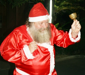 For many youngsters it was their first time meeting Santa, and many ran away screaming.