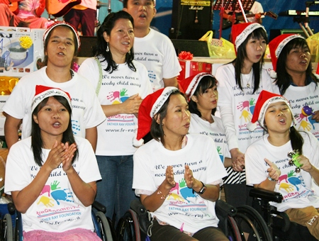 The choir from the Vocational School for People with Disabilities.