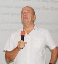 Member Roy Albiston conducts the Pattaya City Expats open forum, where the mysteries of living in the exotic East are sometimes solved.