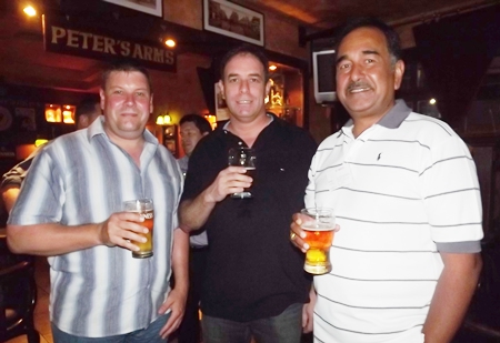 Shene Van Harten, Ken Bright and Ray D'Silva toast to the success of Bosch Chassis Systems (Thailand) Limited.