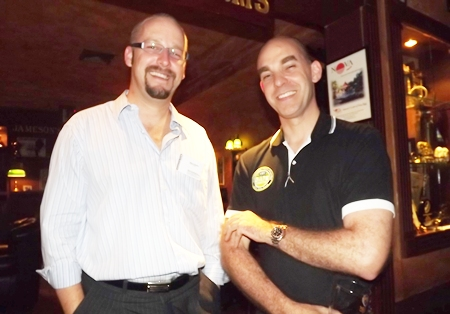 Markus Wehrhahn (Resource Link Consulting Group) with Simon Shale (Visy Packaging (Thailand) Limited).
