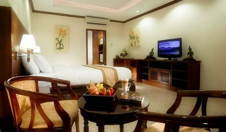 One of the beautiful deluxe rooms at the award winning Thai Garden Resort.