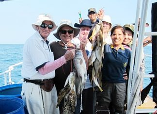 Happy anglers with their catch.