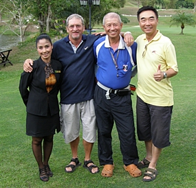 Emerald boss lady Candy with Peter Blackburn, Kenny Chung & Ping Kim Fung.