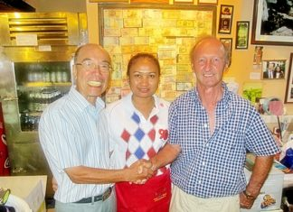 Mashi Kaneta and Daryl Evans with Pu.