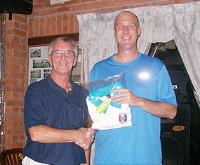 Frank (right) was club championship runner-up.