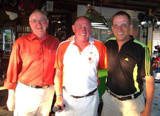 Tuesday winners Dave Earthrowl (left) and Dennis 'the Turnip' (right) with Capt' Bob.