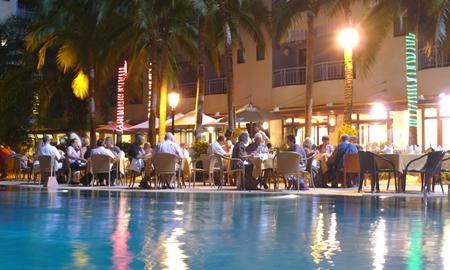 Tropical poolside.