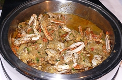 Crab curry.