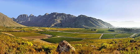 The beautiful Breede River Valley, South Africa.
