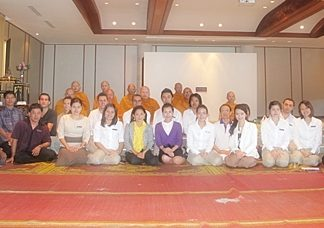 The management team of Pullman Pattaya Aisawan led by GM Clinton Lovell (2nd row, 4th left), held a religious ceremony conducted by Buddhist monks to give blessings to the staff for a healthy and prosperous New Year.