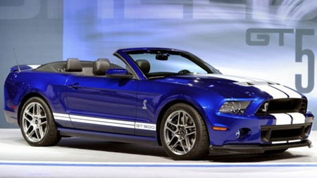 2013 Ford Shelby GT500 convertible.