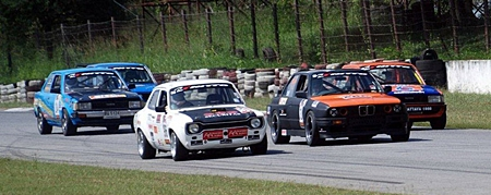 Securitas Retro Mk1 Ford Escort battles with the Germans and the Japanese.