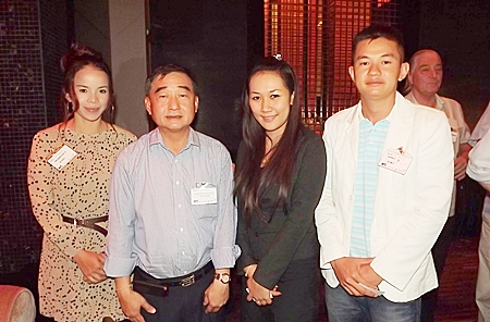 Pacharamon Sotho, architectural coating project sales executive for Dimet (Siam) PCL; Suraphol Rujikarnchana, managing director of Dimet (Siam) PCL; Patcharin Machima, assistant manager, sales for Amari Orchid Pattaya; and Rachit S. from Dimet (Siam) PCL.