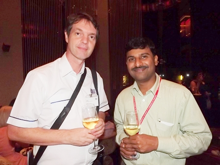 Uli Kaiser, South East Asia business development for EMAG Group - Thailand; and Ramesh Ramanathan, managing director of Visteon (Thailand) Ltd.