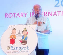 "Bhichai Rattakul, Rotary International President (2002-03) ""This is a proud year for Thailand""."