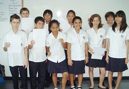 Year 8 students who took part in the Maths Challenge.