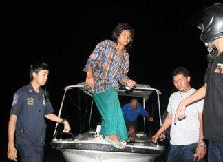 This unidentified, allegedly inebriated woman was found sleeping in a German tourist's stolen boat.