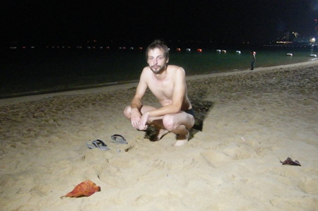 """""""I left everything right here"""" - Valeri Mirovish was left with just his skivvies when someone stole his clothes whilst he was in swimming."""