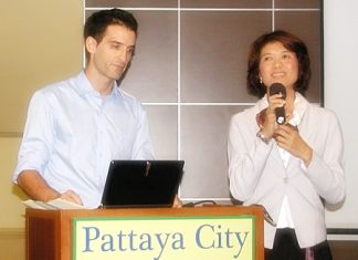 Guillaume Roudil and Rasimon Thananchai, co-owners of the newly opened Nursing Resort Pattaya, introduce to PCEC members their resort, which is located in Huay Yai.