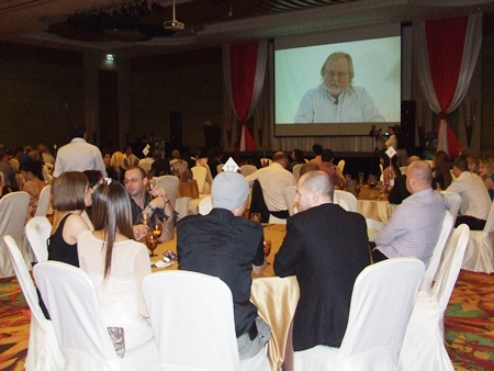 Guests were shown a video presentation outlining the Lighthouse Club Pattaya's work.
